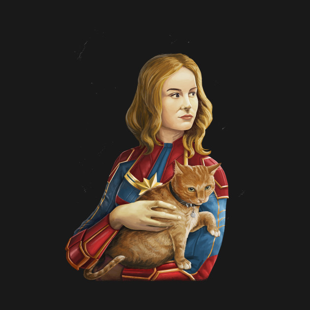 TeePublic: Heroine with an cat