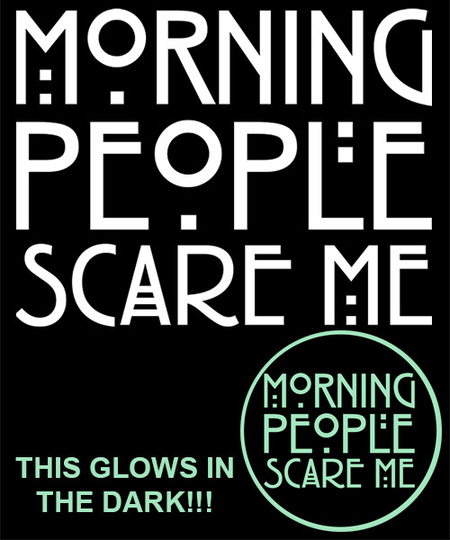 Qwertee: Morning people (Glow)