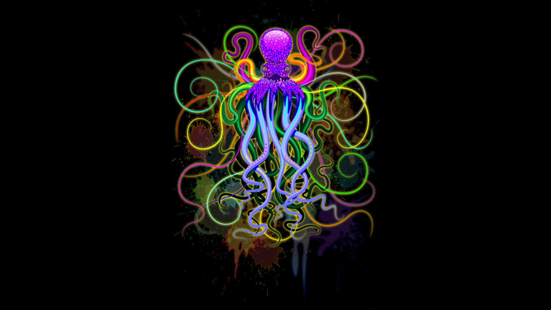 Design by Humans: Octopus Psychedelic Luminescence