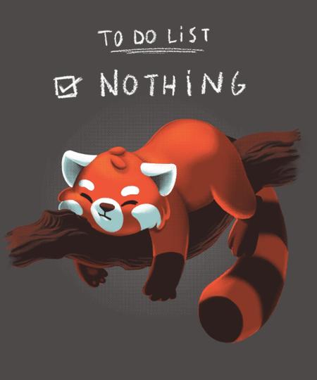 Qwertee: Red panda day
