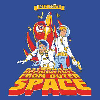 BustedTees: Jake and Amir: Ace and Jocelyn Hoodie