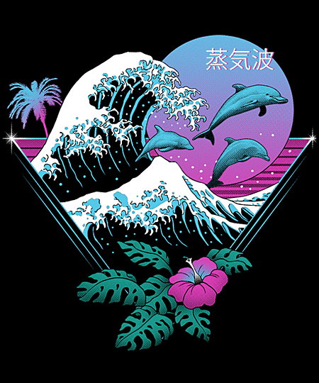Qwertee: Dolphin Waves