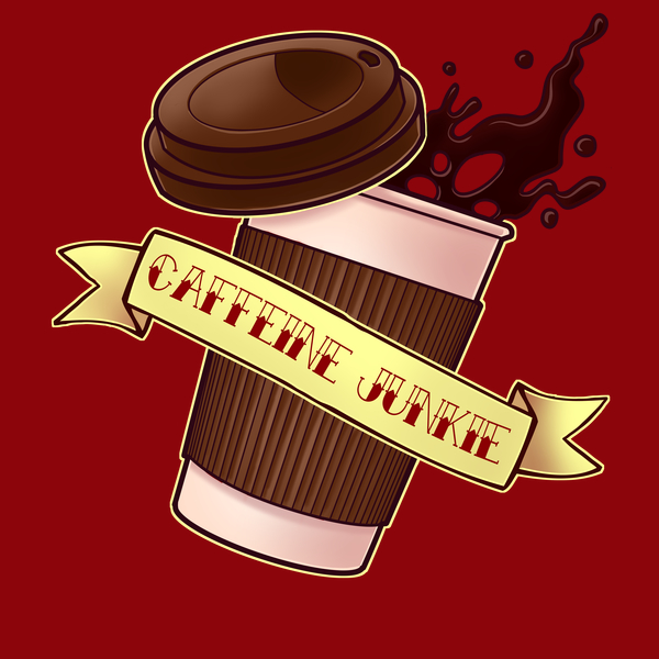 NeatoShop: Caffeine Junkie Shirt - Coffee Addict Design for Waking up and Breakfast