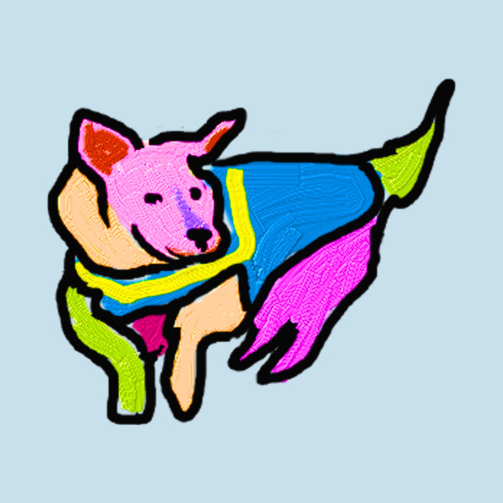 TeePublic: Colorful Hero Dog