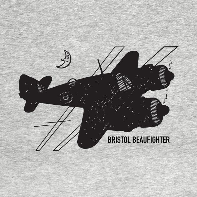 TeePublic: Bristol Type 156 Beaufighter WW2 Plane Art