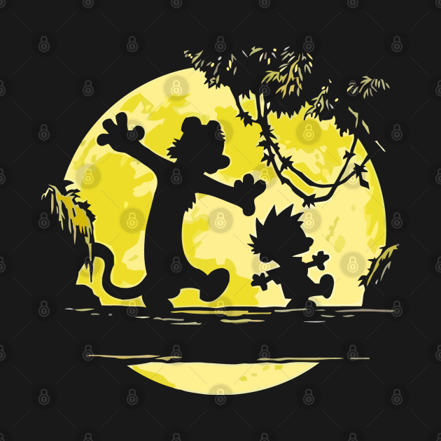 TeePublic: calvin and hobbes yellow