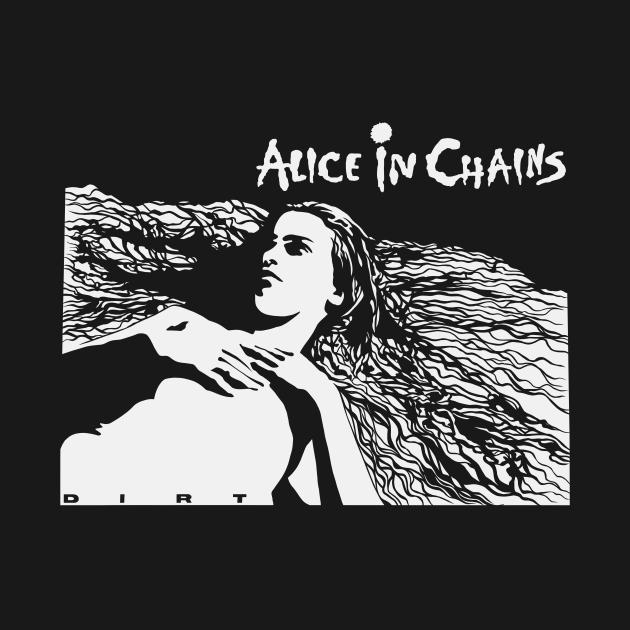 TeePublic: Alice in Chains Dirt white