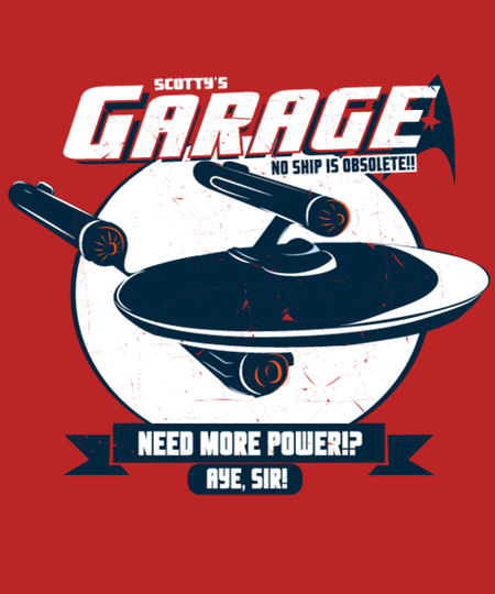 Qwertee: Scotty's Garage