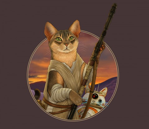 TeeFury: Meow The Force Be With You