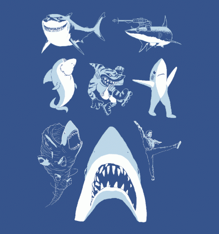 BustedTees: Famous Sharks