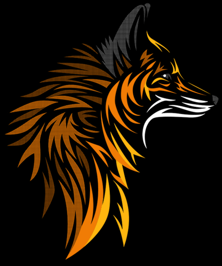 Qwertee: Tribal fox