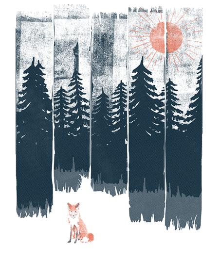 Qwertee: A Fox in the Wild
