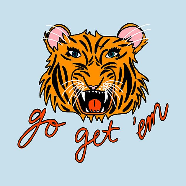 TeePublic: Go Get 'Em Tiger!
