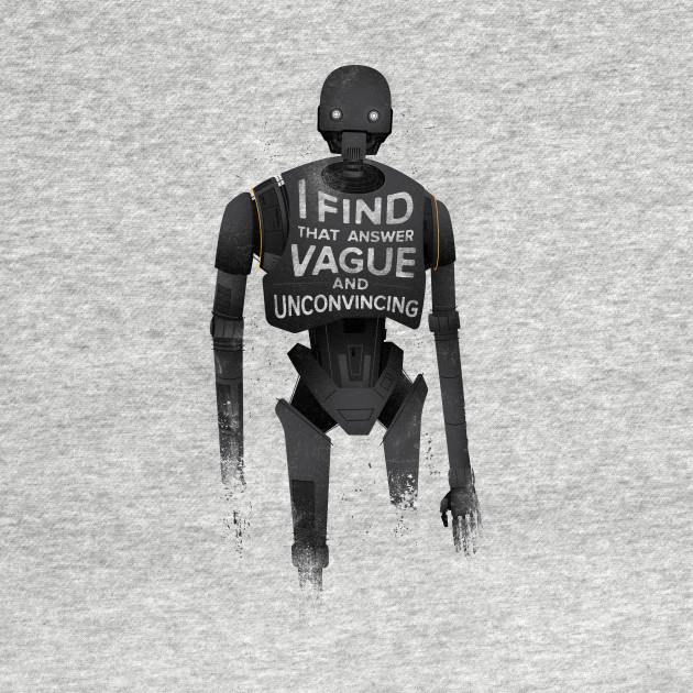 TeePublic: Vague And Unconvincing T-Shirt