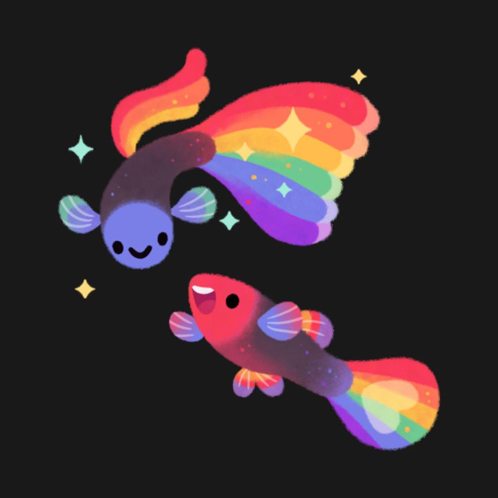 TeePublic: Rainbow guppy 5