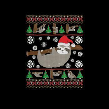 BustedTees: Sloth Ugly Christmas Funny Holiday T-Shirt