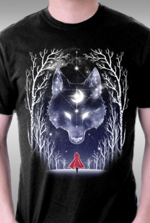 TeeFury: Starry Sky Wolf
