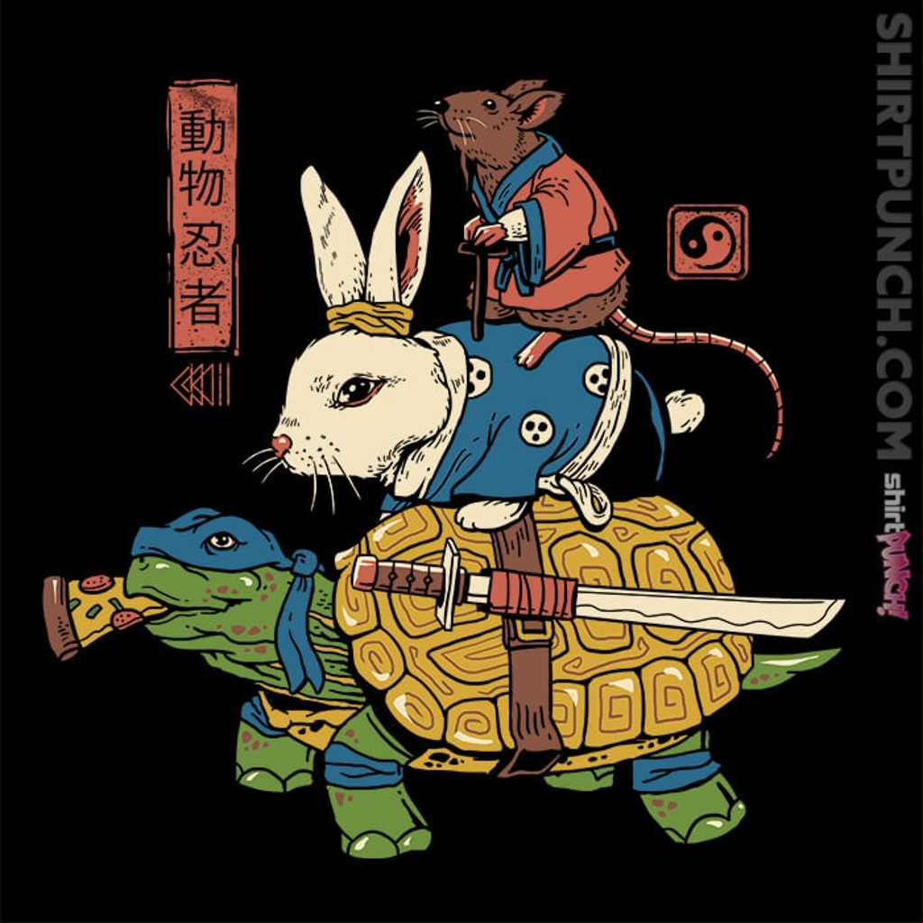 ShirtPunch: Kame, Usagi, and Ratto Ninjas