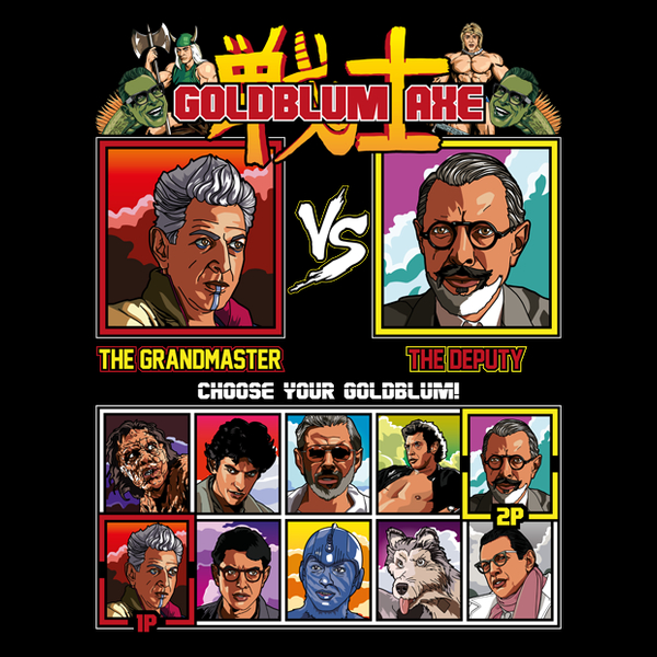 NeatoShop: Jeff Goldblum Axe - Thor Ragnarok vs The Grand Budapest Hotel