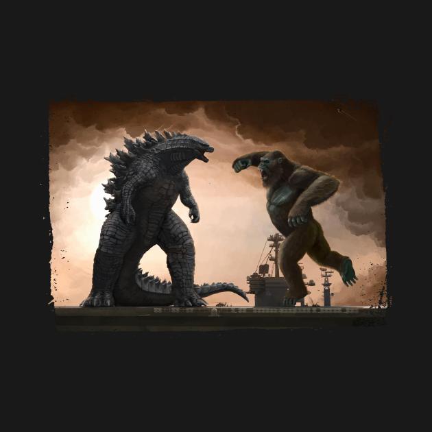 TeePublic: Godzilla vs King Kong 2021