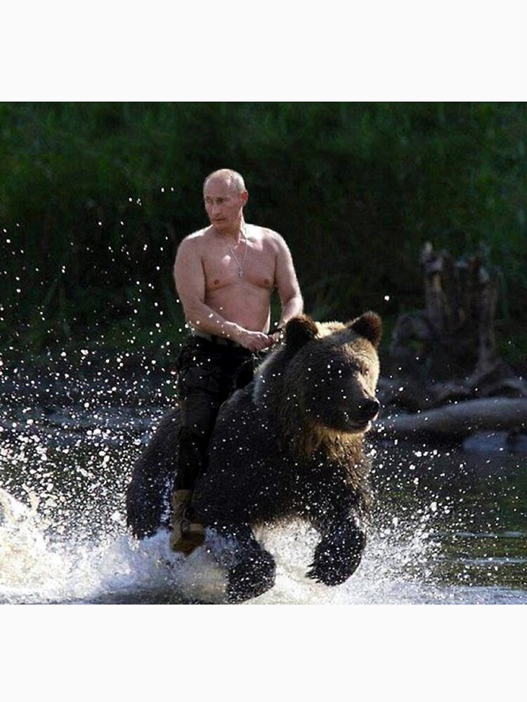 RedBubble: Vladimir Putin Riding a Bear