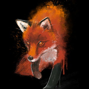 Qwertee: Fox ink