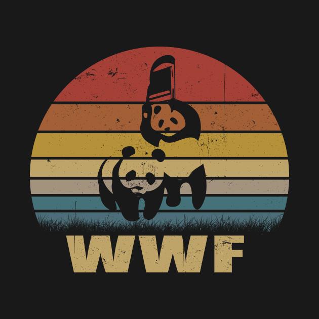 TeePublic: WWF Panda Jiu-Jitsu Vintage