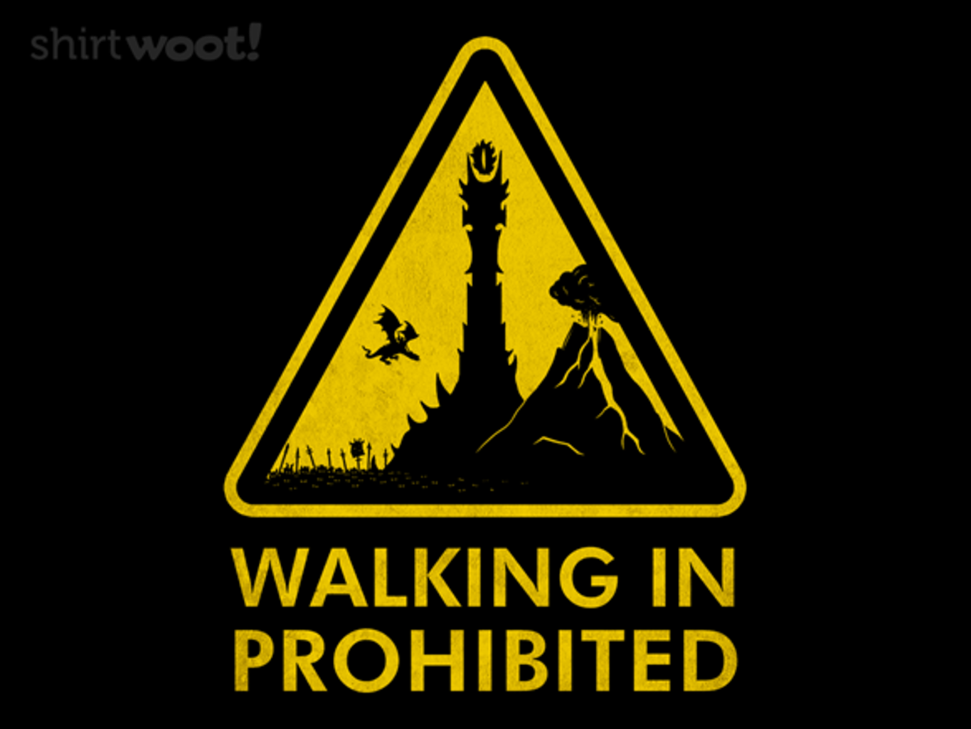 Woot!: WALKING IN PROHIBITED