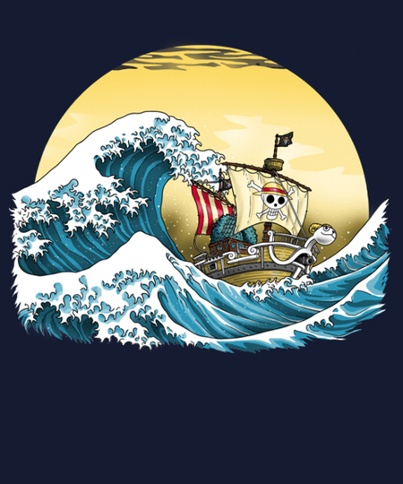 Qwertee: Going Merry By Hokusai