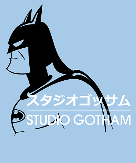 Qwertee: Studio Gotham - Caped Crusader