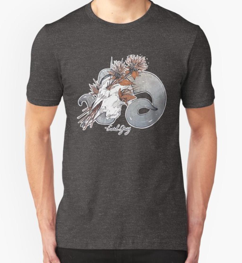 RedBubble: MorbidiTea - Earl Grey with Ram Skull