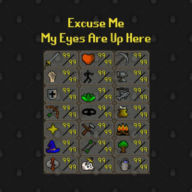 TeePublic: My Eyes Are Up Here