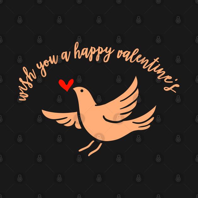 TeePublic: Wünsche Dir einen schönen Valentinstag Vogel Taube Liebe