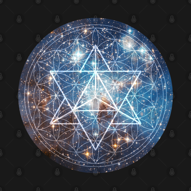 TeePublic: Merkaba in Flower of Life