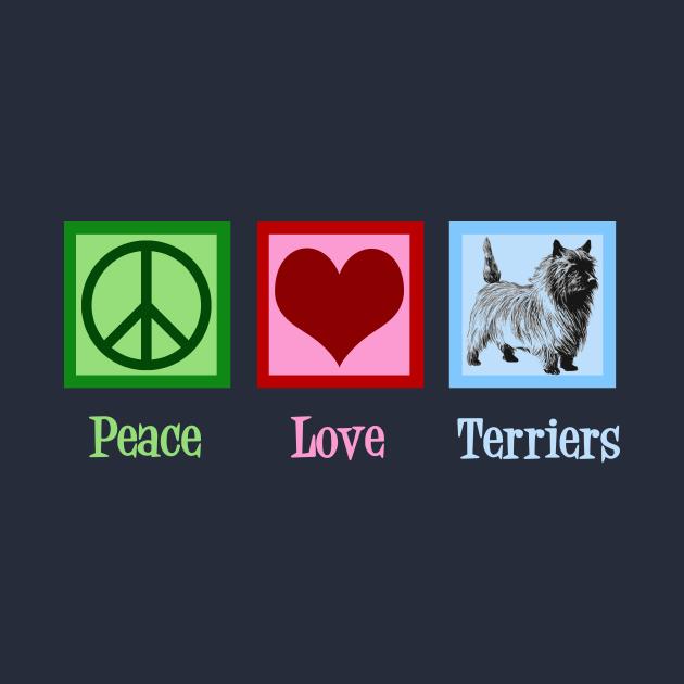 TeePublic: Peace Love Cairn Terriers