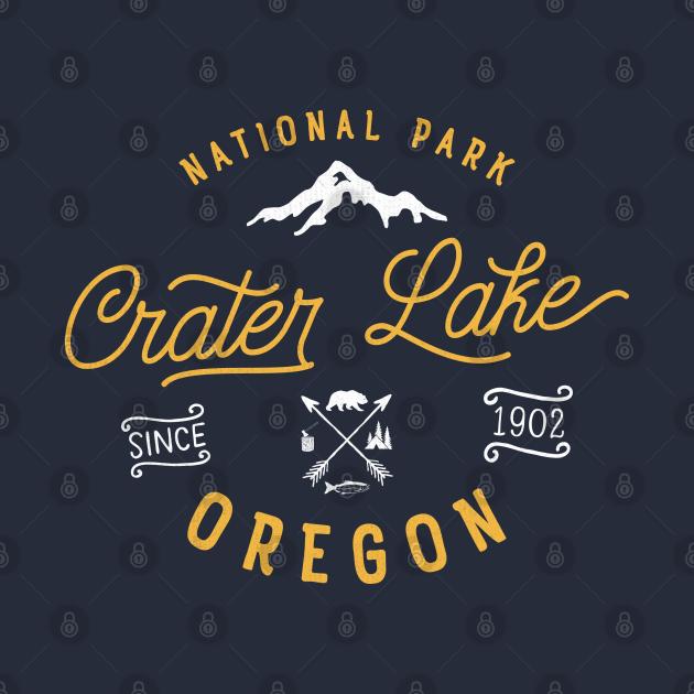 TeePublic: Crater Lake Oregon National Park Vintage Retro Outdoor Novelty