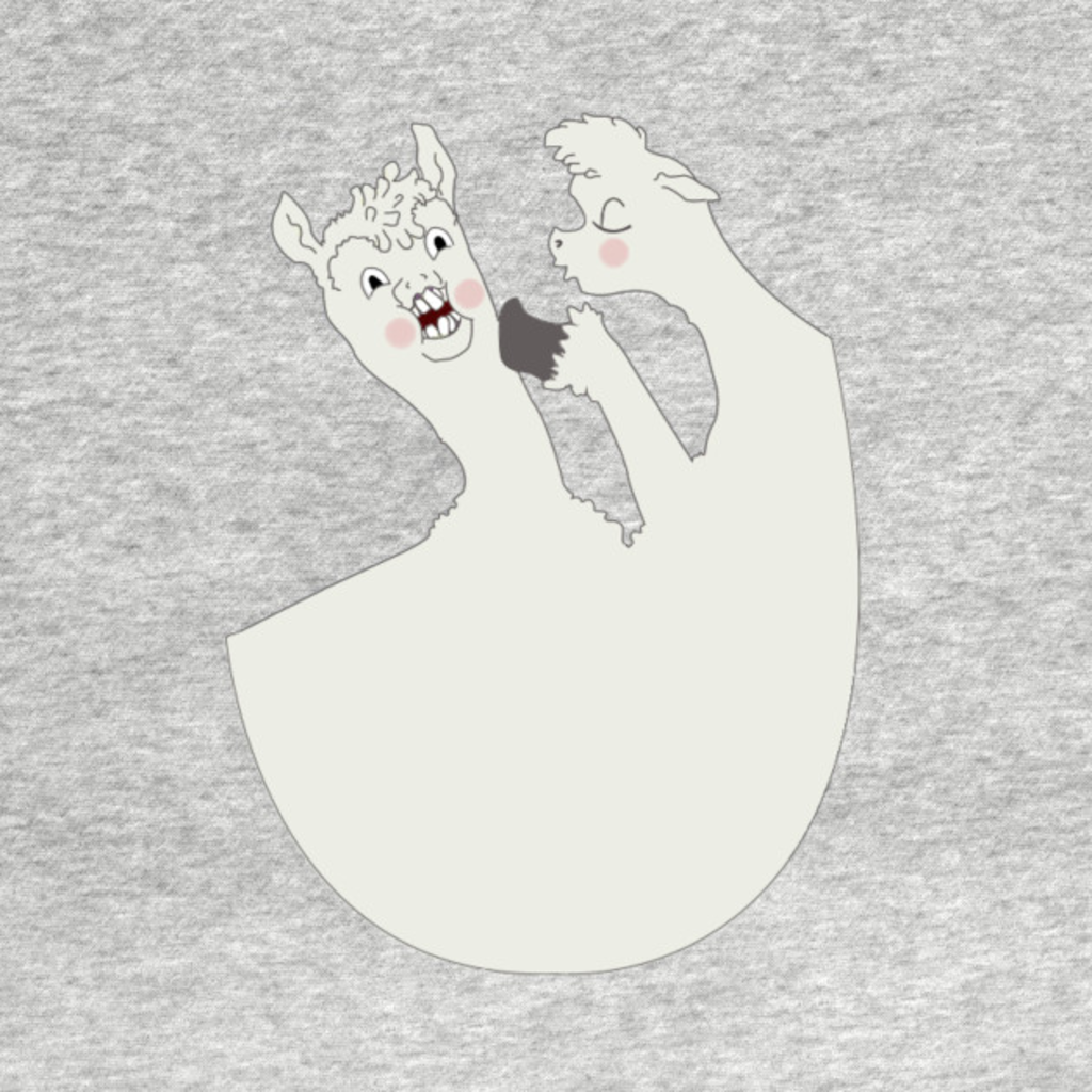 TeePublic: Llamas Love to Gossip.
