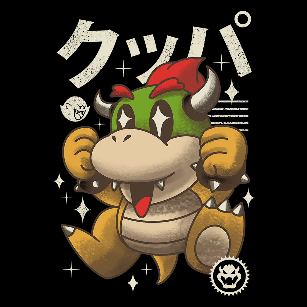 Pop-Up Tee: Kawaii Boss Turtle