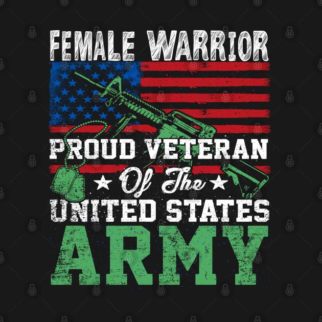 TeePublic: Female Veteran