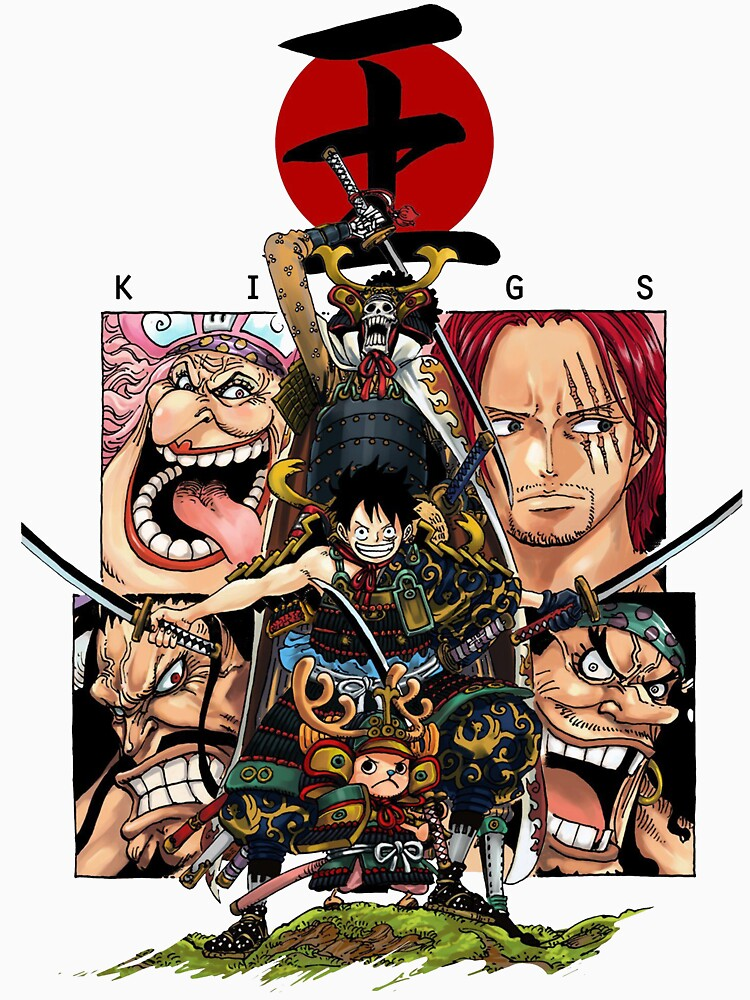 RedBubble: One Piece Wano Kuni Assemble! Samurai Chopper, Luffy, and Brook!