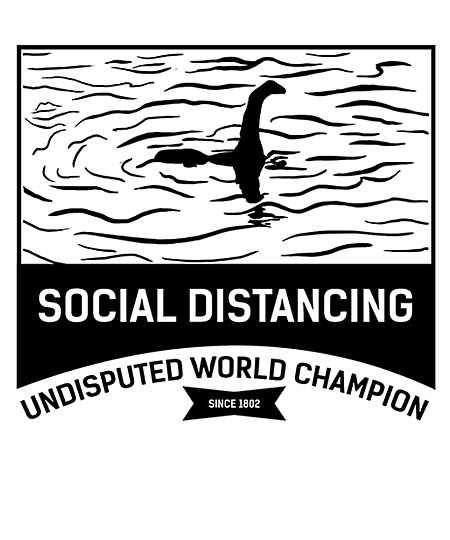 Qwertee: Social Distancing World Champion