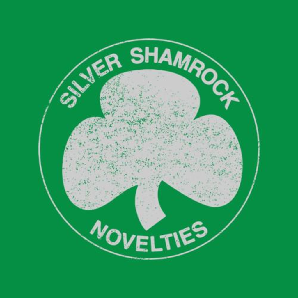 Five Finger Tees: Silver Shamrock Novelties T-Shirt