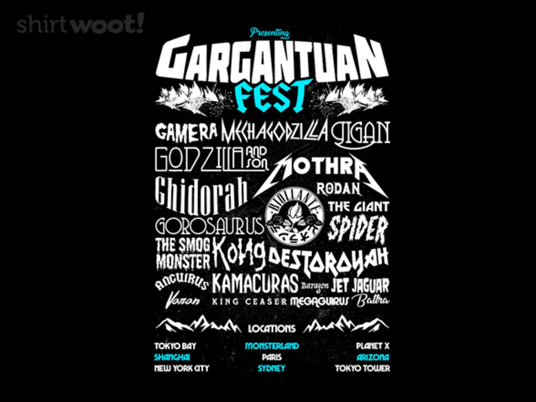 Woot!: Gargantuan - $15.00 + Free shipping