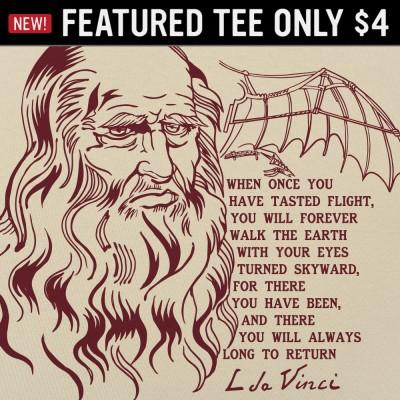 6 Dollar Shirts: Da Vinci Quote