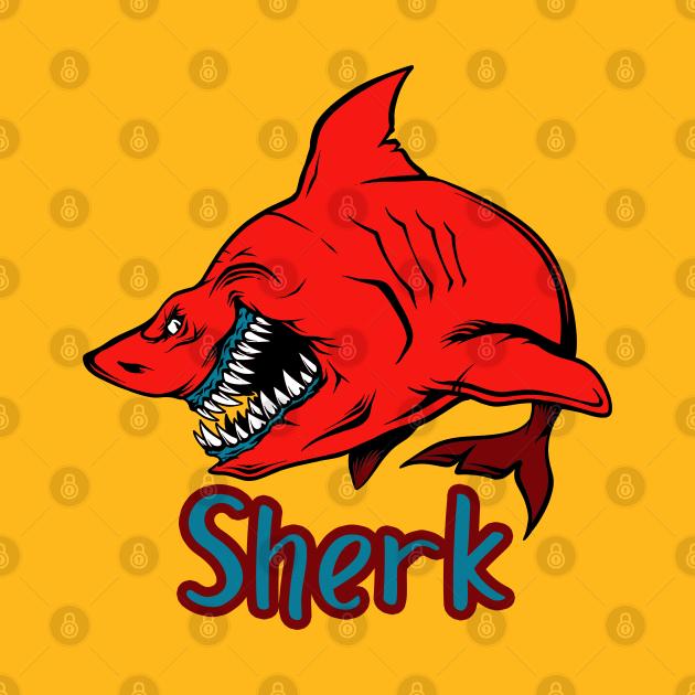 TeePublic: Sherk shark smiling
