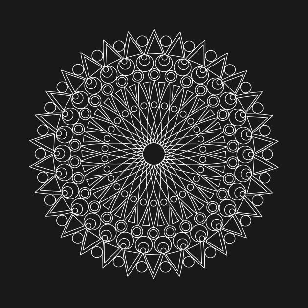 TeePublic: Mandala no 5 (invert)
