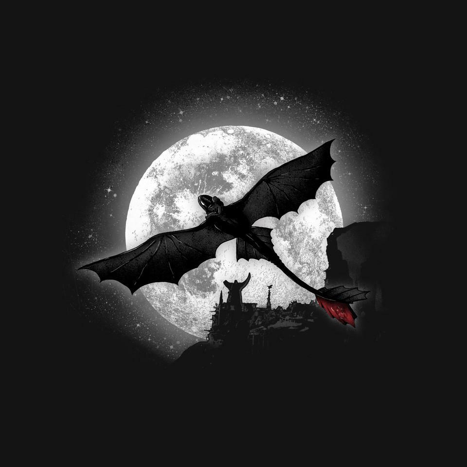 TeeFury: Moonlight Dragon Rider