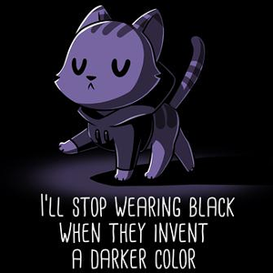 TeeTurtle: I Only Wear Black
