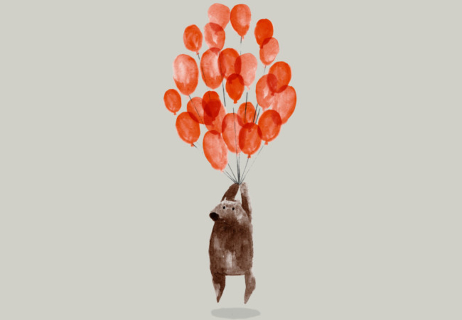 Design by Humans: Bear with balloons