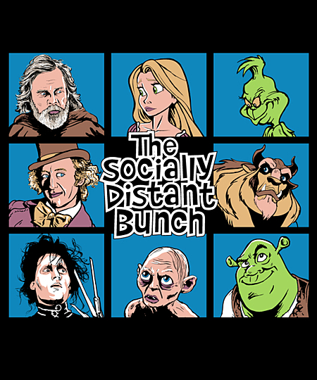 Qwertee: The Socially Distant Bunch